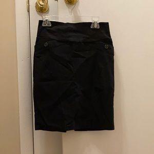 Black Pencil Skirt size medium, stretches well